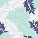 Beauty cartoon tropical seamless leaves pattern design vector illustration