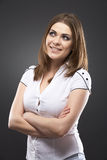 Beauty casual young woman portrait Royalty Free Stock Photography