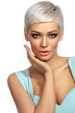 Beauty with cat eye make-up Stock Images