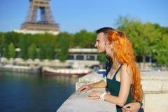 Beauty caucasian couple in Paris Stock Images