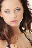 Beauty caucasian woman face Royalty Free Stock Photo