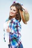 Beauty caucasian woman fashion posing Royalty Free Stock Photos