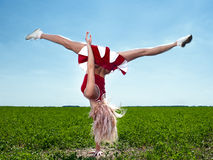 Beauty cheerleader Stock Image