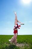 Beauty cheerleader Stock Photography