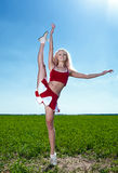 Beauty cheerleader Stock Photo