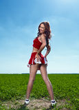 Beauty cheerleader royalty free stock photo