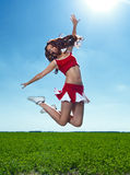 Beauty cheerleader Stock Images