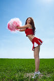 Beauty cheerleader Royalty Free Stock Photo