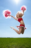Beauty cheerleader Royalty Free Stock Images