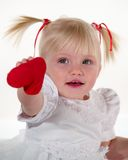Beauty Child And Heart Stock Image