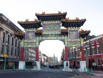 Beauty Chinatown in United Kingdom. Travel in UK. stock image