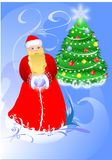 Beauty christmas card. Beauty christmas card of a Santa Royalty Free Stock Images