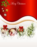 Beauty christmas card background Royalty Free Stock Photo