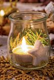 Beauty Christmas lampion. A beauty Christmas and new year lampion royalty free stock photo