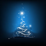Beauty Christmas tree from light background Stock Photography