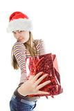 Beauty christmas woman Stock Photos