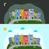 A beauty of the city night and day. Beauty of the city night and day Royalty Free Stock Photos