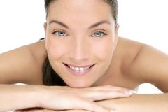 Beauty of clean beautiful woman portrait Royalty Free Stock Image
