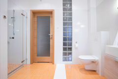 Beauty clean toilet interior Royalty Free Stock Photography