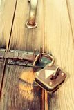 Rusty metal iron padlock Stock Photos