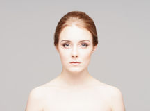 Beauty close-up portrait of a  beautiful woman Royalty Free Stock Images