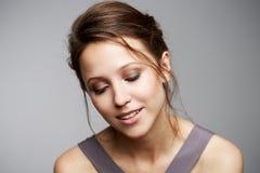 Beauty close up studio portrait Royalty Free Stock Photo