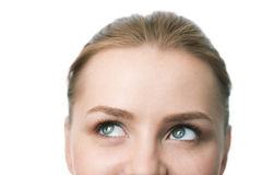 Beauty close-up woman face Royalty Free Stock Photo