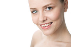 Beauty close-up woman face Royalty Free Stock Image