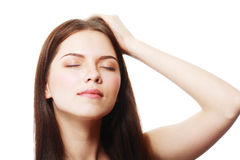 Beauty closed eyes Stock Photo