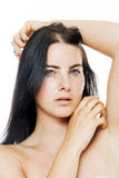 Beauty Closeup portrait of young woman Stock Photography
