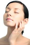 Beauty Closeup Woman Portrait Stock Images