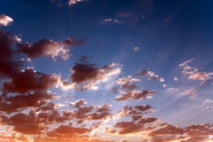 Beauty cloud scape and sky on morning Royalty Free Stock Images