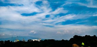 the beauty of clouds in the sky bogor stock photo