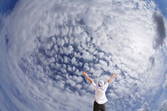 The beauty of the cloudy sky Stock Photography