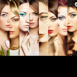 Beauty collage. Faces of women Stock Image
