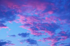 Beauty colorful dramatic sky with cloud at sunset.  royalty free stock images