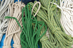 Beauty of colorful ropes Royalty Free Stock Photo
