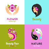 Beauty concept design 4 flat square Royalty Free Stock Photography