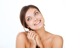 Beauty concept - face of beautiful woman Stock Photography