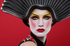 Beauty Concept of a Geisha Girl. Modern Beauty Concept of a Geisha Girl Royalty Free Stock Images