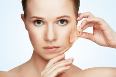 Beauty concept rejuvenation, renewal, skin care, skin problems Stock Photos