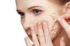 Beauty concept rejuvenation, renewal, skin care, skin problems Stock Photography