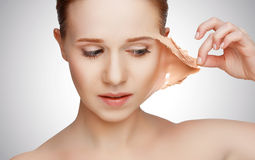 Beauty concept rejuvenation, renewal, skin care, skin problems Stock Photo