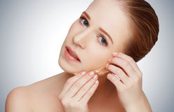 Beauty concept rejuvenation, renewal, skin care, skin problems Royalty Free Stock Photos