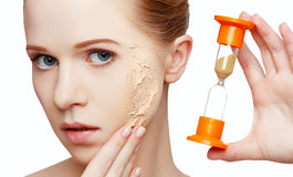Beauty concept rejuvenation, renewal, skin care, skin problems w Stock Image
