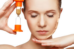 Beauty concept rejuvenation, renewal, skin care, skin problems w Stock Photo