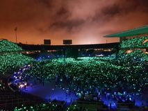 The beauty of a concert. Photo taken in a Coldplay`s concert Stock Image