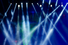 The beauty of the concert stage lighting. Vector Stage Spotlight with Laser rays Stock Photos