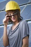 Beauty construction engineer Royalty Free Stock Photo