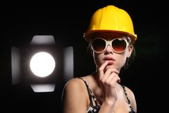 Beauty construction worker Royalty Free Stock Photography